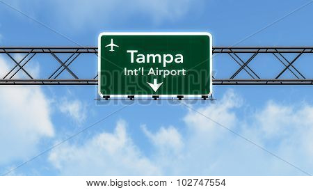 Tampa Usa Airport Highway Sign