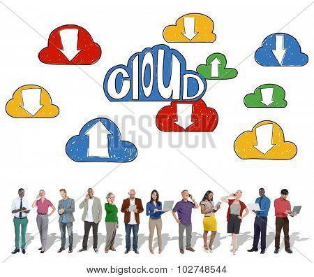 Cloud Link Computing Technology Data Concept