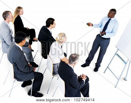 Business People Meeting Conference Presentation Copy Space Concept