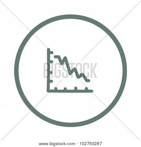 Declining Graph Icon - Declining Chart Icon