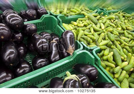 Aubergines And Cucumbers
