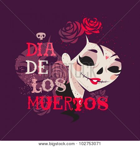 Day of the dead Catrina Calavera sugar skull
