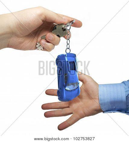 Keys in a hand