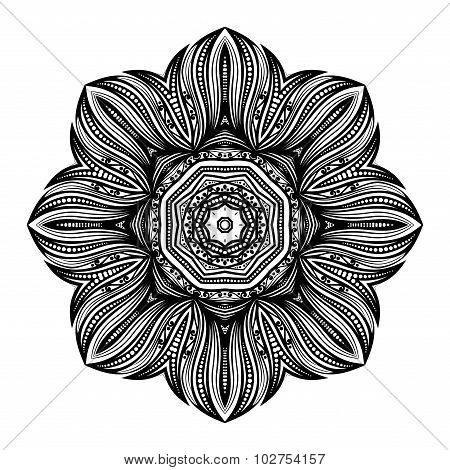 Vector Beautiful Deco Black Mandala