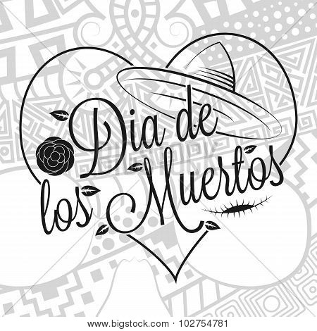 Dia De Los Muertos Lettering