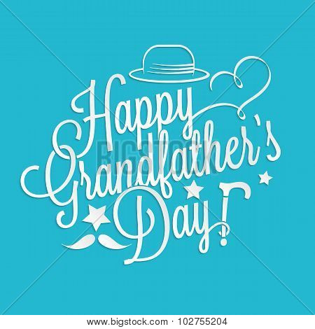 Happy Grandfather's Day Lettering
