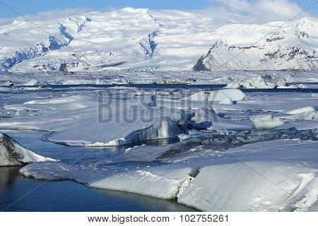 Glacier Lagoon Jokulsarlon In Iceland
