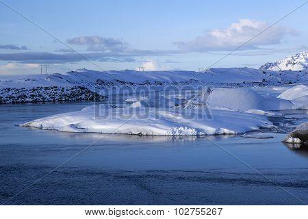 Glacier Lagoon Jokulsarlon In Iceland In A Morning Light