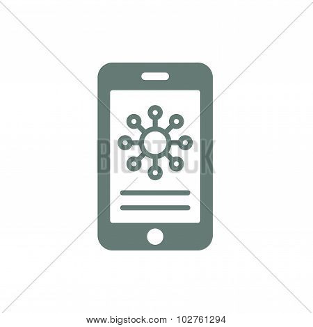 Mobile Phone Analysis. Flat Infographic Design Element