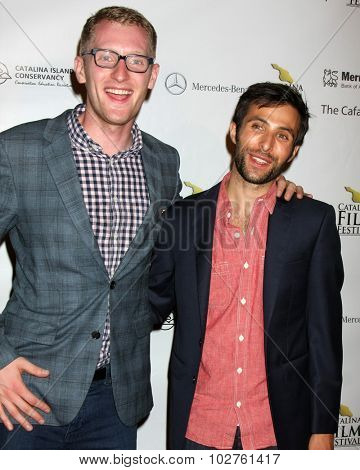 LOS ANGELES - SEP 24:  Eric McCoy, Mitch Lerner at the Catalina Film Festival Opening Night Feature -- West of Redemption at the Lancer Auditorium on September 24, 2015 in Avalon, CA