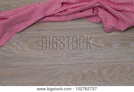 Dish Towel on rustic wooden background