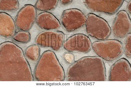 Wall made of natural stones