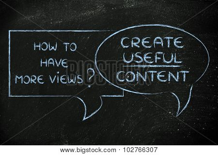 How To Have More Views? Create Useful Content