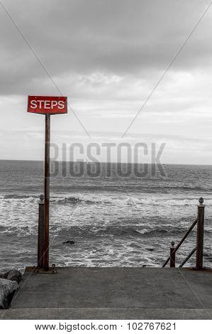 Steps warning