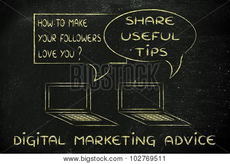 Digital Marketing Advice: Create Useful Content For Your Readers To Love You