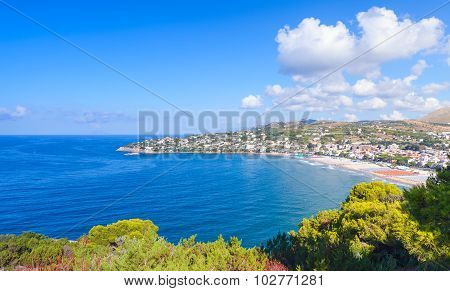 Summer Landscape Of Mediterranean Sea Coast