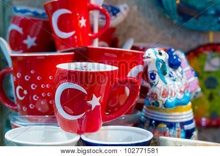 Turkish Souvenir Ceramic Mugs