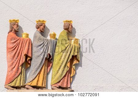 Three Wise Men Relief On A Wall