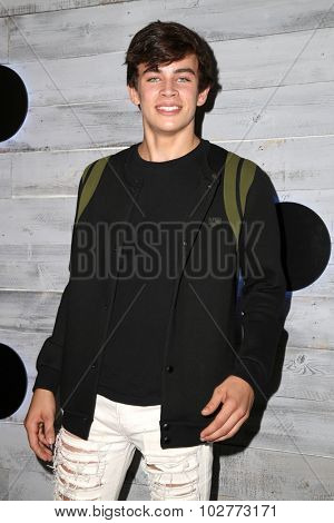 LOS ANGELES - SEP 24:  Hayes Grier at the VIP Sneak Peek Of go90 Social Entertainment Platform at the Wallis Annenberg Center for the Performing Arts on September 24, 2015 in Los Angeles, CA
