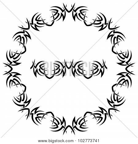 Vector Round Frame On A White Background