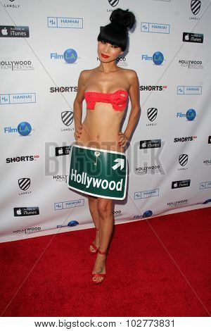 LOS ANGELES - SEP 24:  Bai Ling at the Hollywood Film Festival Opening Night Red Carpet at the ArcLight Theater on September 24, 2015 in Los Angeles, CA
