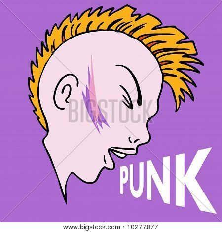 Punk Mowhawk Character