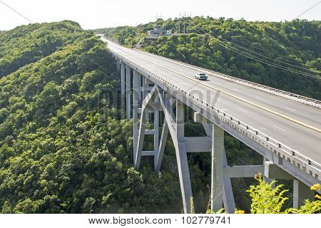High Arch Bridge In Cuba