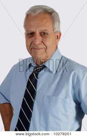 Senior Man Wearing Tie