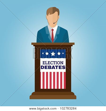 Election Debates Flyer