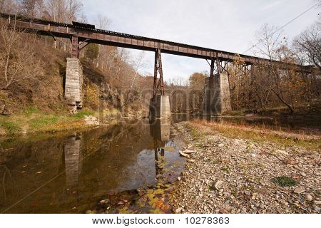 Old Railroad Bridge Over A Creek