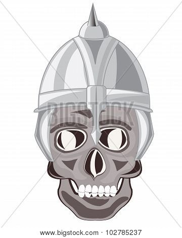 Skull of the person in send