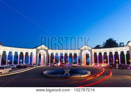 Colonnade night view