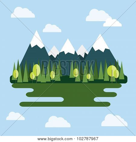 Mountain Landscape At Daytime