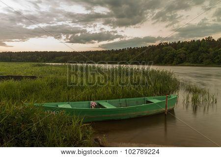Boat Left The Nemunas