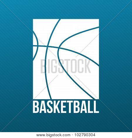 Basketball Print Design for T-Shirt