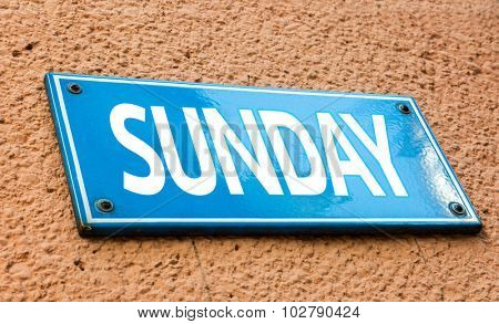 Sunday blue sign