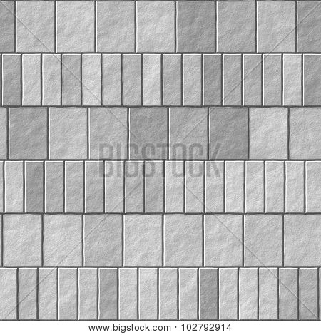 Gray brick wall seamless Illustration background - texture pattern for continuous replicate.