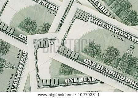 hundred dollars notes background