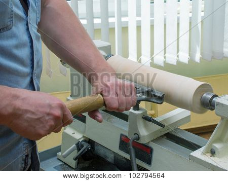 The Working Man Handles The Wood Element