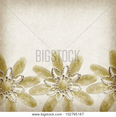 Vintage background with flower brooches