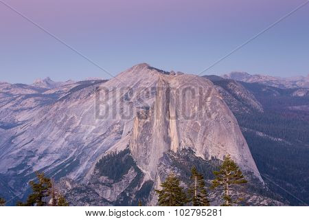 Dusk over Half Dome, Yosemite National Park
