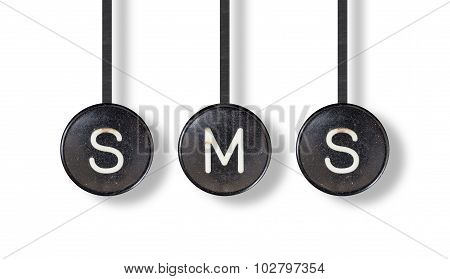 Typewriter Buttons, Isolated - Sms