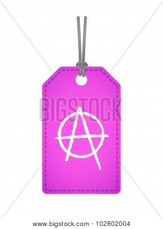 Isolated Label Icon With An Anarchy Sign