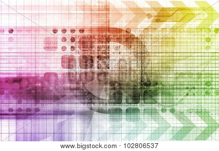 Pharmaceutical Manufacturing as a Modern Concept Abstract Art