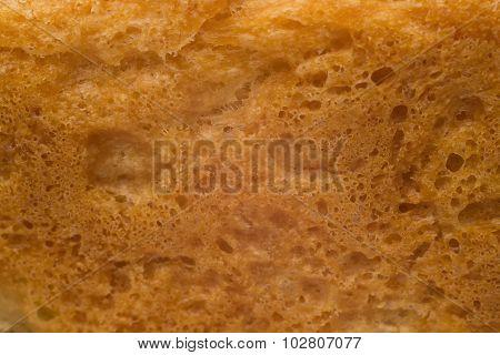Texture Of Bread Crust Closeup