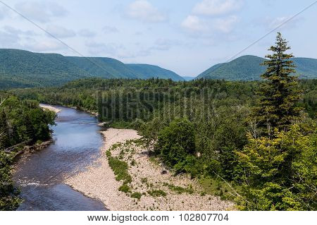 Streams And Hills In Cape Breton Island