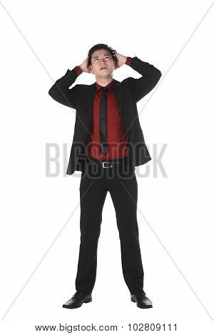 Asian Business Man With Shocking Face