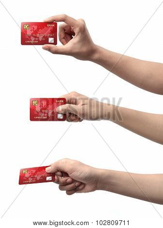Collection Of Hand Holding Credit Card