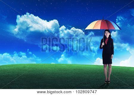 Business Person Holding Umbrella