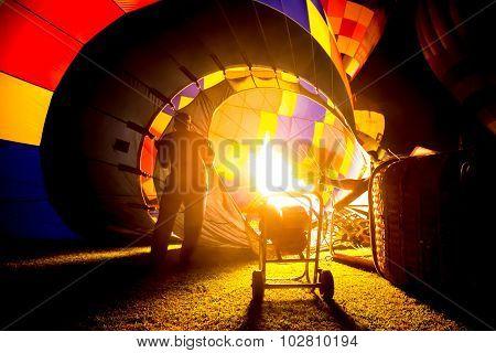 Hot Air Balloon Burners In Balloon